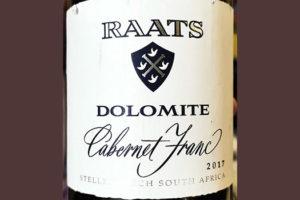 Raats Dolomite Cabernet Franc Stellenbosch 2017 Красное вино отзыв