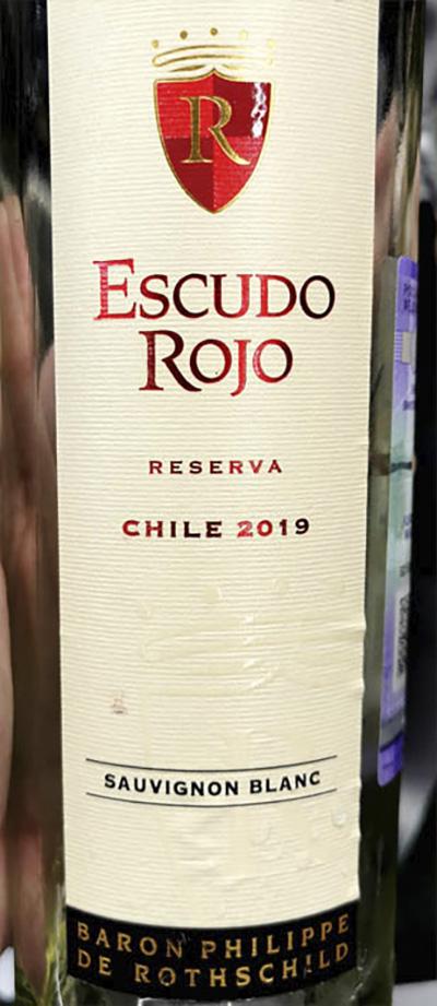 Baron Philippe de Rothschild Escudo Rojo Sauvignon Blanc Reserva Chile 2019 Белое сухое вино отзыв