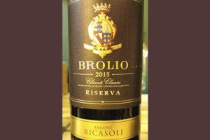 Barone Ricasoli Brolio Chianti Classico Riserva 2015 Красное вино отзыв