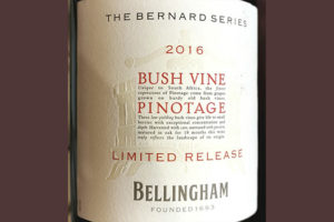 Bellingham Pinotage Bush Vine The Bernard Series Limited Release 2016 Красное вино отзыв
