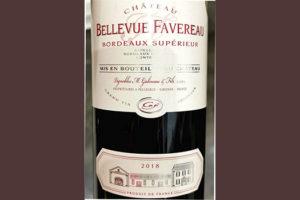 Chateau Bellevue Favereau Bordeaux Superior 2018 Красное сухое вино отзыв