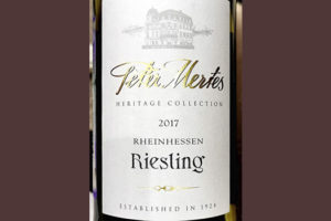 Peter Mertes Riesling Heritage Collection Rheinhessen 2017 Белое сухое вино отзыв