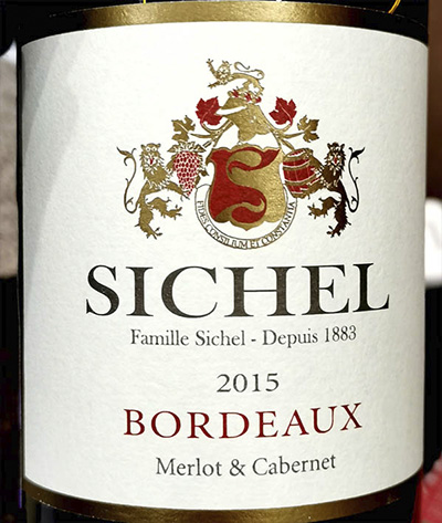 Sichel Merlot & Cabernet Bordeaux 2015 Красное вино отзыв