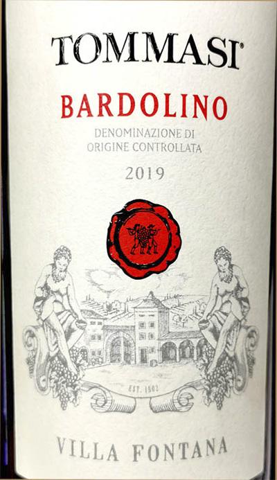 Tommasi Bardolino Villa Fontana 2019 Красное сухое вино отзыв