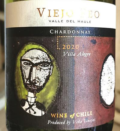 Vina Tinajas Viejo Feo Chardonnay Villa Alegre 2020 Белое вино отзыв
