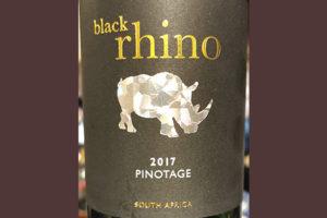 Black Rhino Pinotage South Africa 2017 Красное сухое вино отзыв