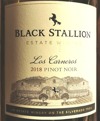 Black Stallion Estate Winery Los Carneros Pinot Noir 2018 Красное сухое вино отзыв