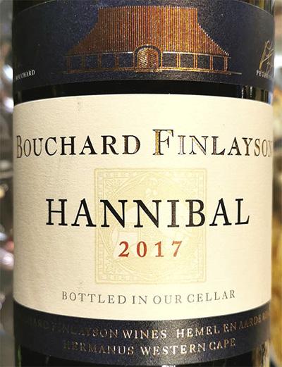 Bouchard Finlayson Hannibal Western Cape 2017 Красное сухое вино отзыв