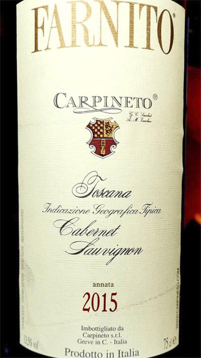 Carpineto Farnito Cabernet Sauvignon Toscana 2015 Красное сухое вино отзывCarpineto Farnito Cabernet Sauvignon Toscana 2015 Красное сухое вино отзыв