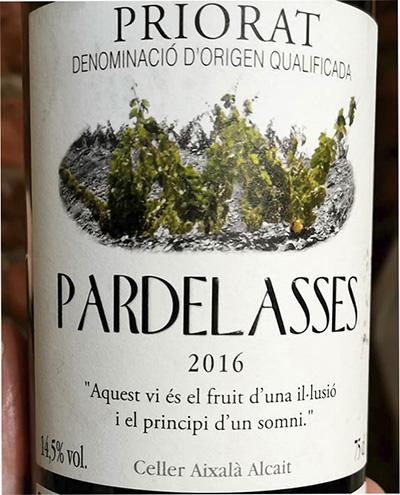 Celler Aixalà Alcait Pardelassee Priorat 2016 Красное сухое вино отзыв