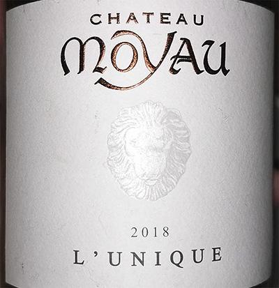 Chateau Moyau L'Unique 2018 Белое сухое вино отзыв