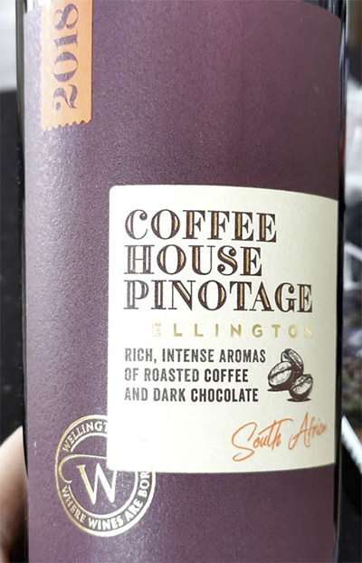 Coffee House Pinotage Wellington 2018 Красное сухое вино отзыв