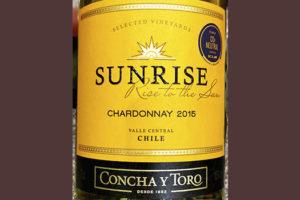 Concha y Toro Sunrise Chardonnay 2015 Белое сухое вино отзыв