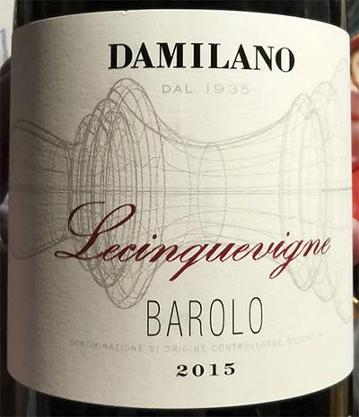 Damilano Lecinquevigne Barolo 2015 Красное сухое вино отзыв