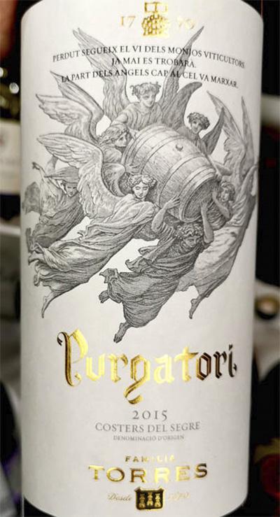 Familia Torres Purgatori Costers del Segre 2015 Красное сухое вино отзыв