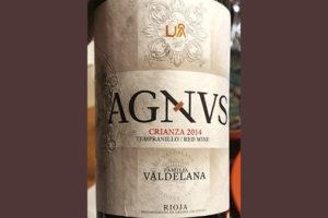Familia Valdelana Agnus Tempranillo Crianza Rioja 2014 Красное сухое вино отзыв