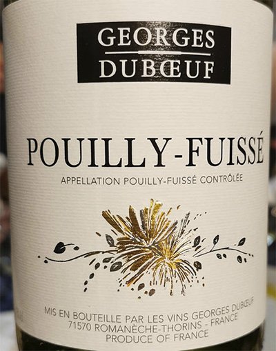 Georges Debeouf Pouilly Fuisse 2012 Белое сухое вино отзыв
