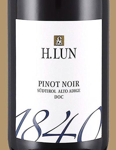 H.Lun 1840 Pinot Noir trocken Alto-Adige Sudtirol 2019 Красное сухое вино отзыв