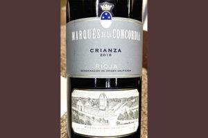 Marques de Concordia Crianza Rioja 2016 Красное сухое вино отзыв
