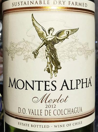 Montes Alpha Merlot Valle de Colchague 2012 Красное сухое вино отзыв