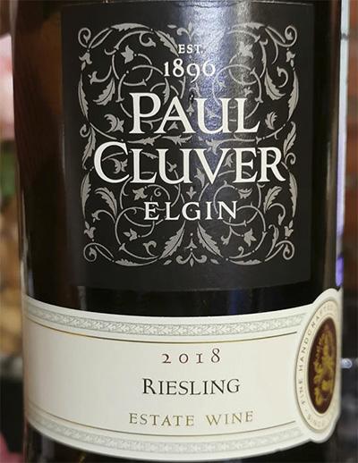 Paul Cluver Riesling Elgin Estate Wine 2018 Белое сухое вино отзыв