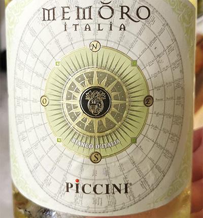 Picini Memoro bianco Italia 2019 Белое сухое вино отзыв