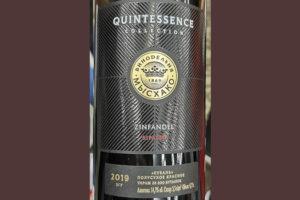 Quintessence Collection Zinfandel Ripasso ЗГУ 2019 Красное сухое вино отзыв