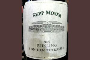 Sepp Moser Riesling von den Terrassen 2019 Белое сухое