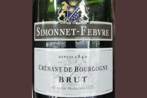 Simonnet-Febvre Cremant de Bourgogne Brut 2017 Белое игристое вино брют отзыв