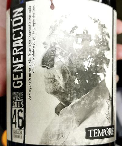 Tempore Generation 46 Garnacha Tempranillo organic 2015 Красное сухое вино отзыв