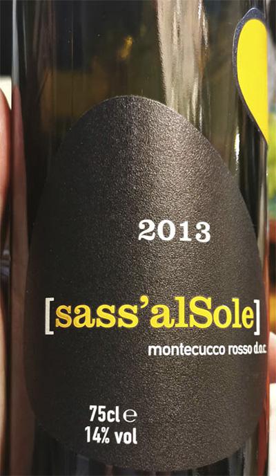 Tenuta Tondaia Sass'alSole Montecucco rosso 2013 Красное сухое вино отзыв