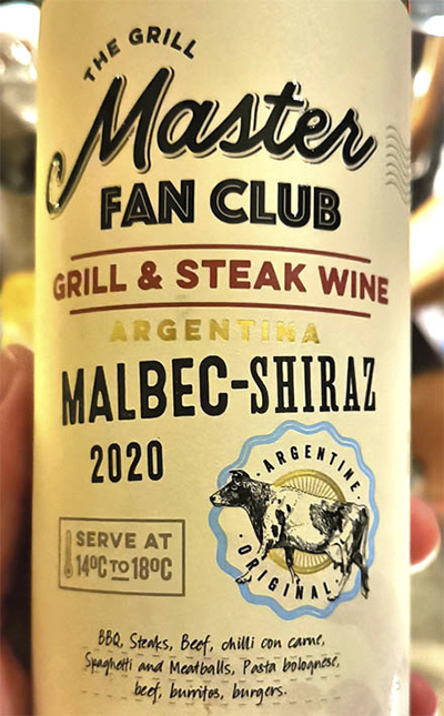 The Grill Master Fan Club Malbec-Shiraz Argentina 2020 Красное сухое вино отзыв