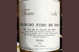 Tosca Cerrada Palomino Fino En Rama 2016 Белое сухое вино отзыв
