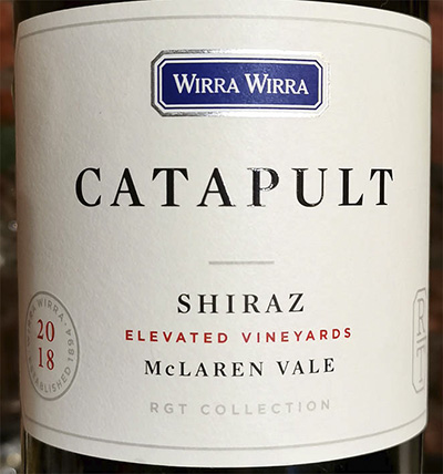 Wirra Wirra Catapult Shiraz Elevated vineyards McLaren Vale 2018 Красное сухое вино отзыв