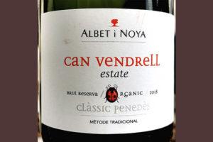 Albet i Noya Can Vendrell Estate Classic Penedes Brut Reserva organic 2018 Белое игристое вино брют отзыв