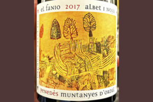 Albet i Noya El Fanio Muntanyes d'Ordal organic 2017 Белое сухое вино отзыв