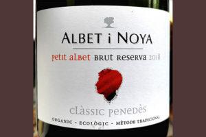 Albet i Noya Petit Albet Classic Penedes Brut Reserva organic 2018 Белое игристое вино брют отзыв