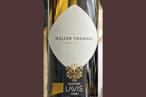 Cantina Lavis Muller Thurgau Trentino DOC 2018 Белое сухое вино отзыв