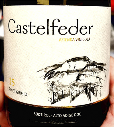 Castelfelder 15 Pinot Grigio 2018 Белое полусухое вино отзыв