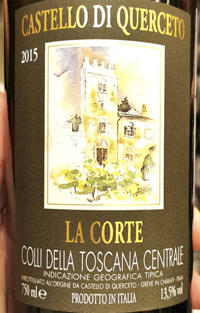 Castello di Querceto La Corte Colli della Toscana Centrale 2015 Красное сухое вино отзыв