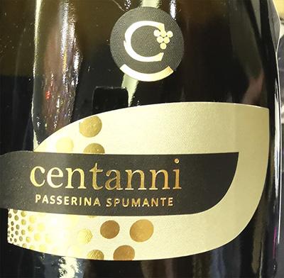 Centanni Passerina Spumante Millesimato brut Terre di Offida 2016 Белое игристое вино брют отзыв