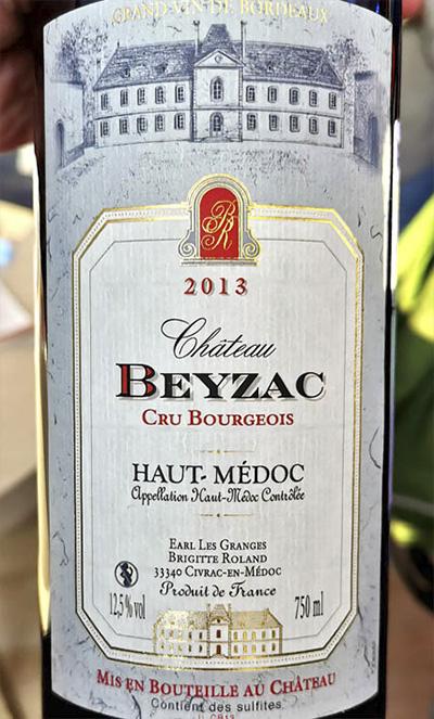 Chateau Beyzac Haut-Medoc Cru Bourgeois 2013 Красное сухое вино отзыв