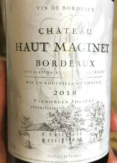 Chateau Haut Maginet Bordeaux blanc 2018 Белое сухое вино отзыв