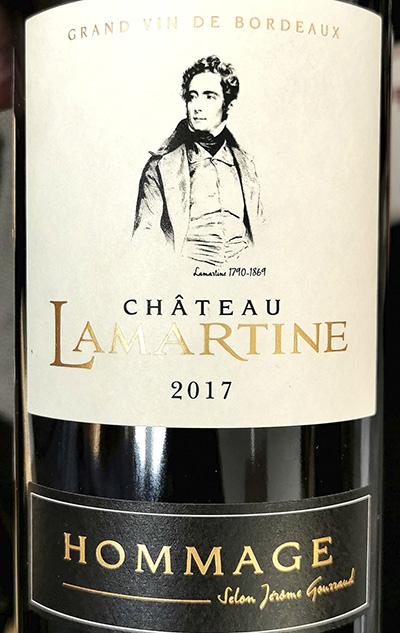 Chateau Lamartine Hammage Grand Vin de Bordeaux 2017 Красное сухое вино отзыв