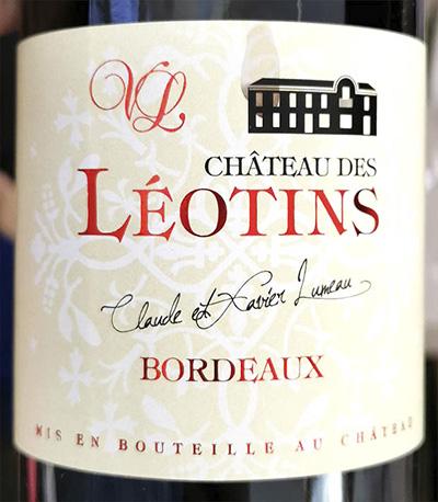 Chateau des Leotins Bordeaux 2018 Красное сухое вино отзыв