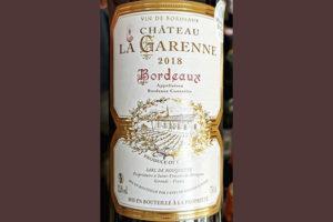 Chateau la Garenne Bordeaux 2018 Красное сухое вино отзыв