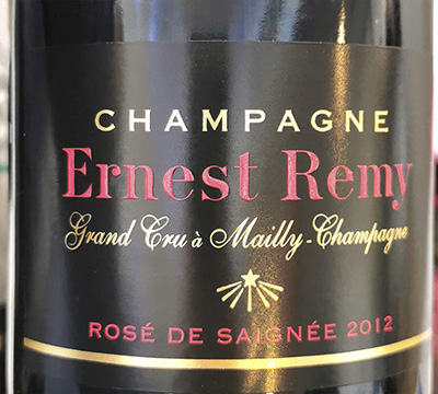 Ernest Remy Champagne Grand Cru Rose de Saignee Brut 2012 Розовое шампанское вино брют отзыв