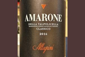 Familia Allegrini Amarone della Valpolicella Classico 2016 Красное сухое вино отзыв