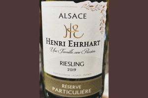 Henri Ehrhart Riesling Reserve Particuliere Alsace 2019 Белое сухое вино отзыв