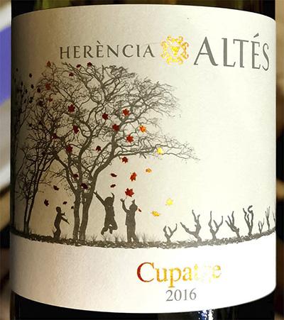 Herencia Altes Cupatge 2016 Красное сухое вино отзыв